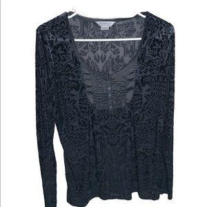 Denim & supply Ralph Lauren black velvet tunic